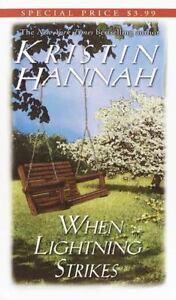 When Lightning Strikes by Kristin Hannah paperback book FREE SHIPPING hanna