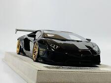 1/18 FX LB Widebody Aventador LP700 Black Gold Davis Giovanni
