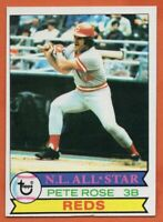 1979 Topps #650 Pete Rose EX-EXMINT All-Star Cincinnati Reds FREE SHIPPING
