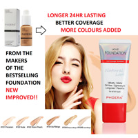 PHOERA Liquid Foundation Concealer Lasting Full Coverage Velvety Matte Cream 24h