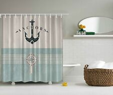 Nautical Anchor Sailor Sea Directions Compass Shower Curtain Extra Long 84 Inch