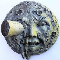 Classic Moon Face Indoor/Outdoor Hanging Sculpture for Garden Deck or Yard Space