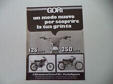 advertising Pubblicità 1976 MOTO GORI 125/250 7V