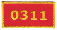 USMC US MARINE CORPS MARINES Gold on Red Patch MOS 0311 Rifleman Iron on Sew on