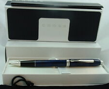 SALE Cross Retired Townsend Midnight Blue+Rhodium Rollerball Pen 595-1 USA MINT