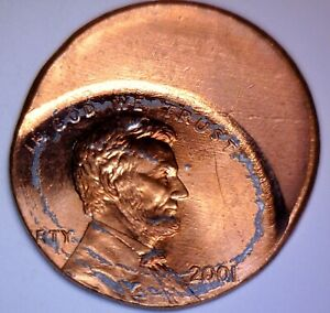 2001 ERROR Off Center Lincoln Cent CH BU RED Coin NICE O/C Penny LOT #15  NR