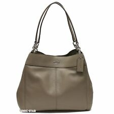 Coach F27593 Lexy Pebbled Leather Fog Shoulder Bag Tote