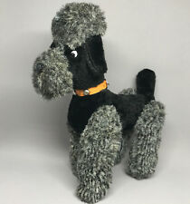 Poodle Dog Artsilk Plush Rod Jointed Legs 25cm 10in Collar Carnival Fun Fair Vtg