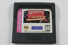 Sports Trivia Sega Game Gear Cartridge