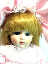 """Dynasty Collection Vintage Blonde Pink Dress Anne Girl 12"""" Porcelain Bisque Doll"""