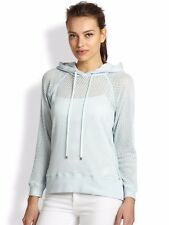 New Rebecca Taylor Hooded Mesh Pullover Sz Small