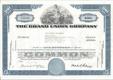 New listing The Grand Union Company.1970 Common Stock Certificate