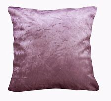 Mn121a Plum Crushed Velvet Style Cushion Cover/Pillow Case *Custom Size*