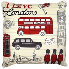 4 in 1 Pillow Blanket Bed Mat Fleece Shearloft Blanket I love London (Multicolor