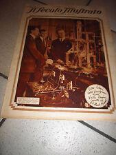 SECOLO ILLUSTRATO GUGLIELMO MARCONI ELECTRA NAPOLI RADIO1928