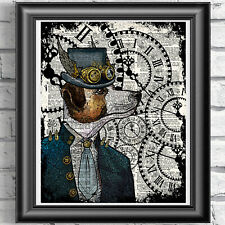 Dog Print Vintage Dictionary Page Wall Art Picture Steampunk Animal Jack Russell