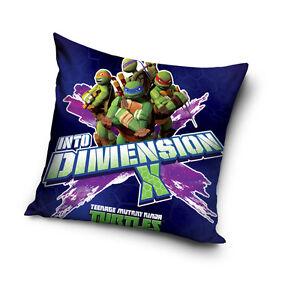 NEW Teenage Mutant NINJA TURTLES dark blue cushion cover 40x40cm 100% COTTON