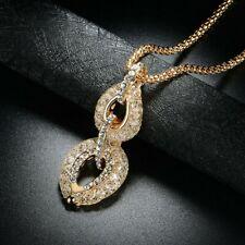 Collier pendentif femme plaqué or & cristal , mode, cœur, chaîne
