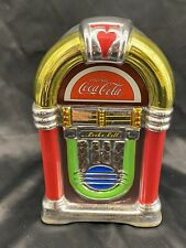 Gibson Coca Cola Retro Rock N Roll Coke Jukebox Cookie Jar Canister 2002 Large