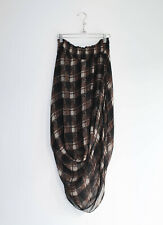 Rachel Comey Plaid Silk High-Low Skirt Size 6