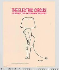 1969 Tomi Ungerer ELECTRIC CIRCUS vintage NYC Club Culture Sexy Design Poster