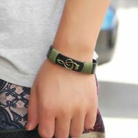 Ornamente Leder Hand gewebt Mode Armband Armband Musikalisches Symbol Bangle