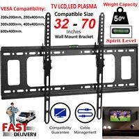 Slim TILT TV Wall Bracket Mount For 32 40 42 50 55 60 65 70 Inch Plasma LED LCD