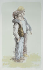"""""""Soccer Player"""" by William Weintraub Signed Artist's Proof AP Hand Colored Litho"""