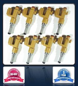 Set of 8 - NEW DENSO Fuel Injectors for 08-13 Toyota Lexus 4.6L 5.7L 232500S020