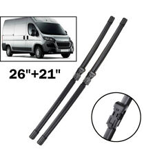 Front Window Windshield Wiper Blades Fit For Peugeot Boxer Fiat Ducato 2006-2013
