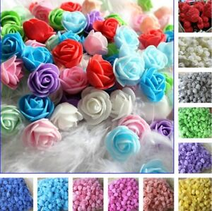 500Pcs Artificial PE Foam Rose Head Flower for DIY Bear Doll Wedding Decor Craft