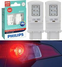 Philips Ultinon LED Light Bulb 4057 Red Turn Signal Side Marker Tail Stop Brake