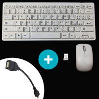 Mini tastiera ITALIANA+mouse wireless per HTC Desire 12 12+ plus BIANCA TVG CO7