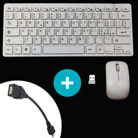 Mini tastiera ITALIANA+mouse wireless per Samsung galaxy s7 edge BIANCA TVG CO7