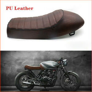 PU Leather Surface Motorcycle Soft Sponge Seat Racing Bike Hump Brown Cushion