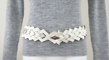 Awesome! Authentic Vintage Leather Belt in White Leather-Adjustable Any Length