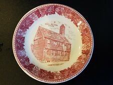 Vintage  Paul Revere House  Jonroth Staffordshire  England small  Plate  red