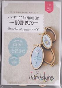 SALE - Miniature Embroidery Hoop Pack F - 4 Vertical Oval Hoops - 2 sizes