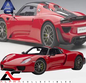 AUTOART 12122 1:12 PORSCHE 918 SPYDER WEISSACH PACKAGE (GUARDS RED) SUPERCAR