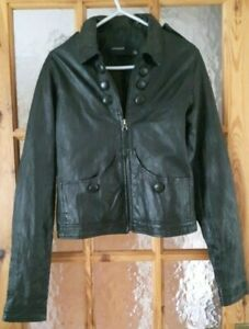 """PROVIDER Black Real Leather Short Jacket Size: 36"""" Chest"""
