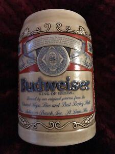 Budweiser 1989 Collector Series Stein Mug 'Bud Label Stein'