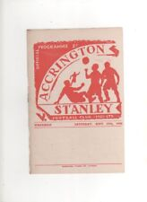 1948-49   ACCRINGTON STANLEY v WREXHAM 25th September 1948 Division 3 North