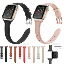 For Apple Watch Series 5 4 3 2 1 Leather iWatch Strap Band + Full Body Case 40mm