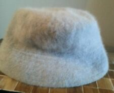 light blue angora hat