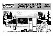 COLEMAN Popup Trailer Owners Manual-1978 Concord Rebel Gettysburg Valley Forge