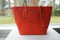 AUTH Coach Purse Textured LEATHER taxi TOTE Large Shoulder Sm Travel Bag 33581