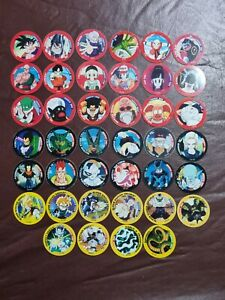DBZ Dragon Ball Z Tazo dizk Series 1 COMPLETE SET 40/40 plus 48 spares