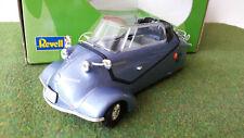 MESSERSCHMITT KR 200 cabriolet bleu métal au 1/18 REVELL 08944 voiture miniature