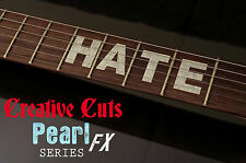 """Mick Thomson Custom B.C. Rich """"HATE"""" MOP Fret Markers Sticker for BASS & GUITAR"""