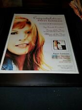 Patty Loveless ACM Award Nomination Rare Original Promo Poster Ad Framed!